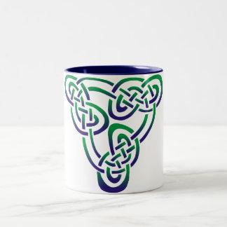 Blue Green Trinity Knot Coffee Mug