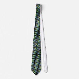 Blue Green Trombone Tie