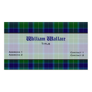 Blue & Green Wallace Plaid Custom Business Card