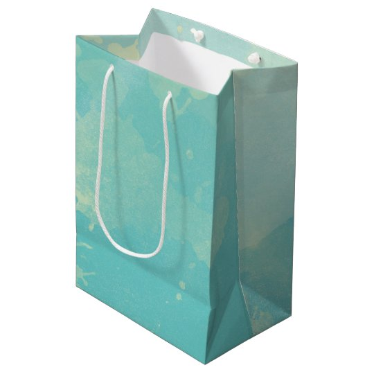 Blue Green Watercolor Gift Bag