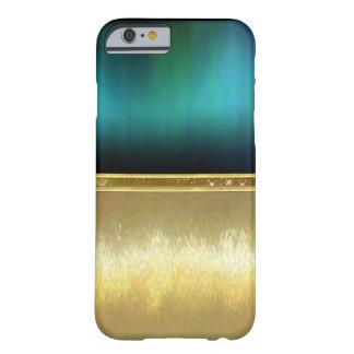 Blue Green Watercolor Sparkle Gold Design Case