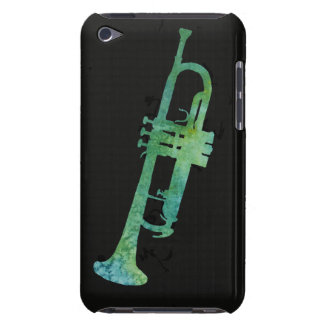 Blue Green Watercolor Trumpet iPod Touch Cover