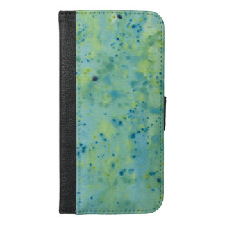 Blue & Green Watercolour Splat iPhone 6/6s Plus Wallet Case