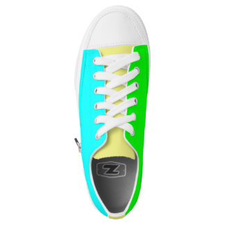 Blue, Green & Yellow Printed Shoes