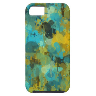 Blue Green Yellow Splattered Paint Splashes Drip Case For The iPhone 5