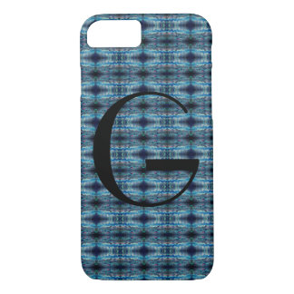 Blue-Grey Abstract Monogram iPhone 8/7 Case