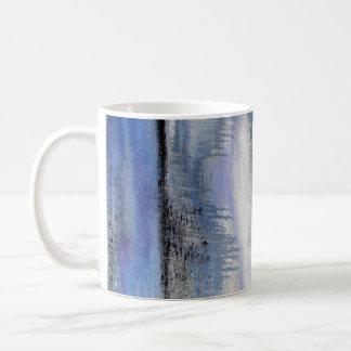 Blue Grey Abstract Mug