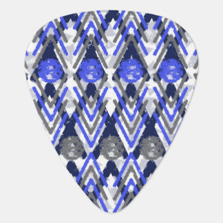 Blue Grey Aztec Influenced Guitar Pick