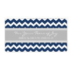 Blue Grey Chevron Cry Packet Wedding Labels