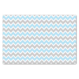 Blue Grey Chevron tissue paper / boy baby shower