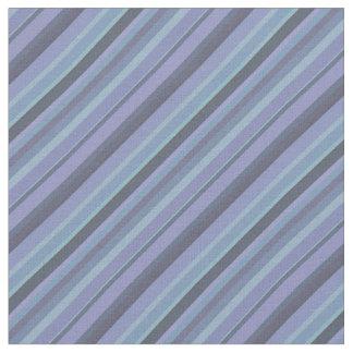 Blue-grey diagonal stripes fabric