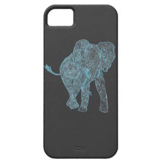 Blue/Grey Elephant iPhone 5 Case