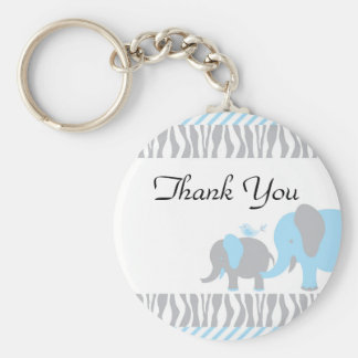 Blue & Grey Elephant Key Ring