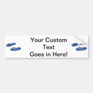 blue grey flip flops offset bumper sticker
