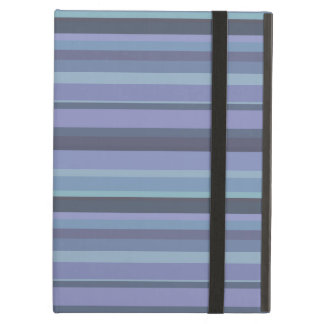 Blue-grey horizontal stripes case for iPad air