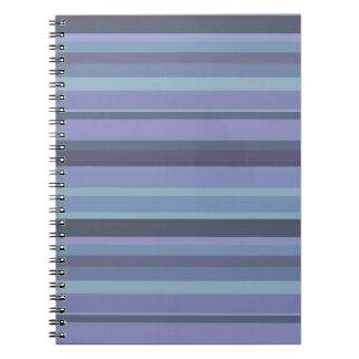 Blue-grey horizontal stripes notebook