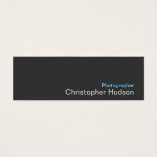 Blue Grey Photographer Standard Slim Business Card