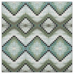 Blue, Grey, Sage Green & Cream Fabric 'Montauk'