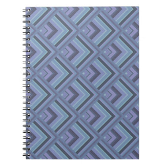 Blue-grey stripes scale pattern spiral notebook