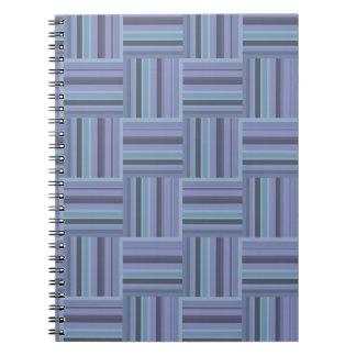 Blue-grey stripes weave pattern notebooks