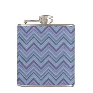 Blue-grey zigzag stripes flasks