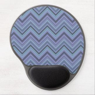 Blue-grey zigzag stripes gel mouse pad