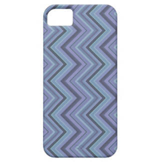 Blue-grey zigzag stripes iPhone 5 cases