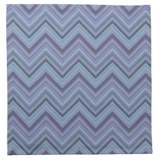 Blue-grey zigzag stripes napkin