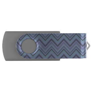 Blue-grey zigzag stripes USB flash drive
