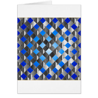 Blue grid background greeting card