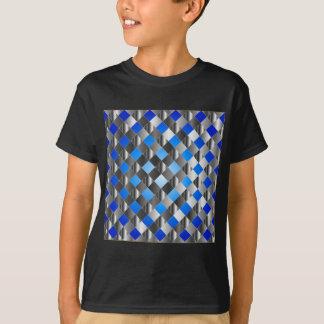 Blue grid background shirts