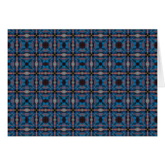 Blue grid pattern card
