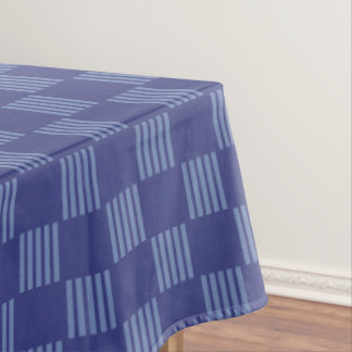 Blue grid pattern tablecloth