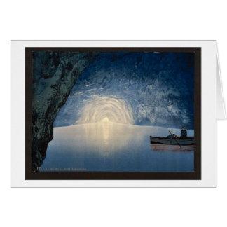 Blue grotto, Capri, Island of, Italy vintage Photo Card