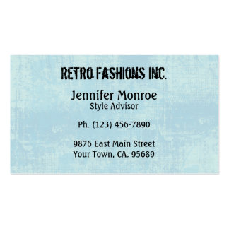 Blue Grunge Distressed Business Cards