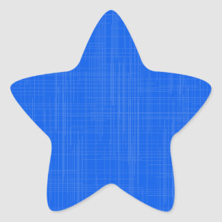 Blue Grunge Effect Background Star Sticker