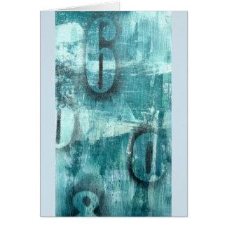 Blue Grunge layered card