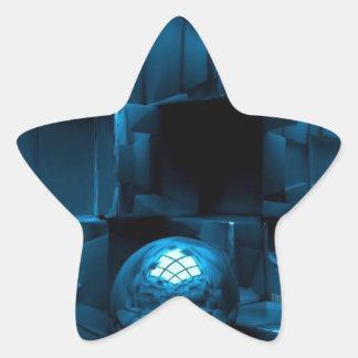Blue grunge star sticker