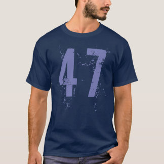 BLUE GRUNGE STYLE NUMBER 47 T-Shirt