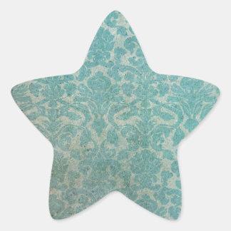 Blue grunge wallpaper pattern star sticker