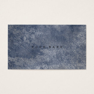 Blue Grungy Distressed Silver Cement Gray Business Card