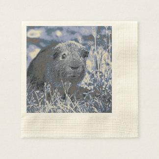 blue guinea pig paper napkin