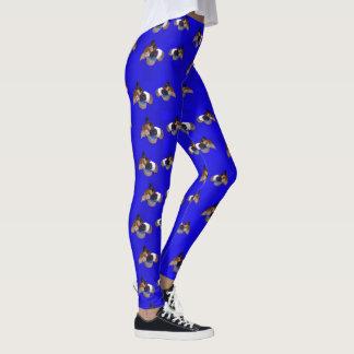 Blue Guinea Pig Pattern, Leggings