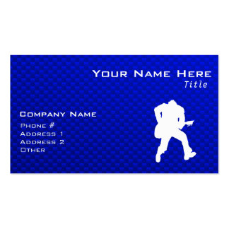 Blue Guitarist Business Card Template