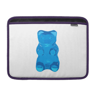 Blue Gummybear Illustration MacBook Sleeve