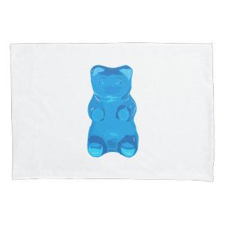 Blue Gummybear Illustration Pillowcase