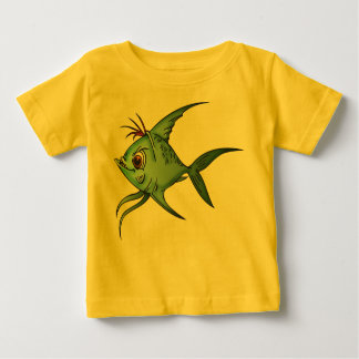 Blue Guppy Fish Baby T-Shirt