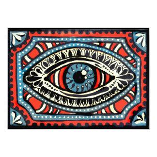 Blue Gypsies Eye 13 Cm X 18 Cm Invitation Card