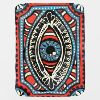 Blue Gypsy Eye Baby Blanket