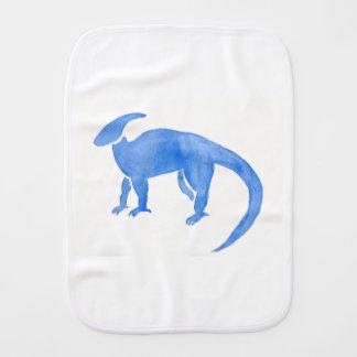 Blue Hadrosaur Burp Cloths